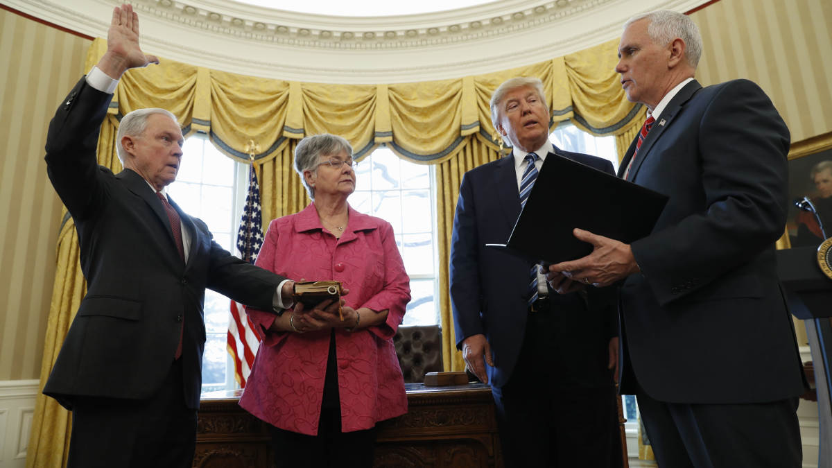 Sessions swearing in